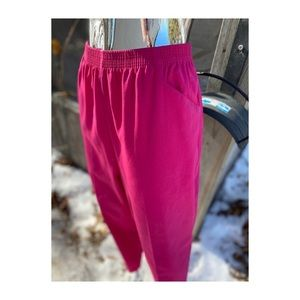 Vintage High Rise Trousers Hot Pink Casual